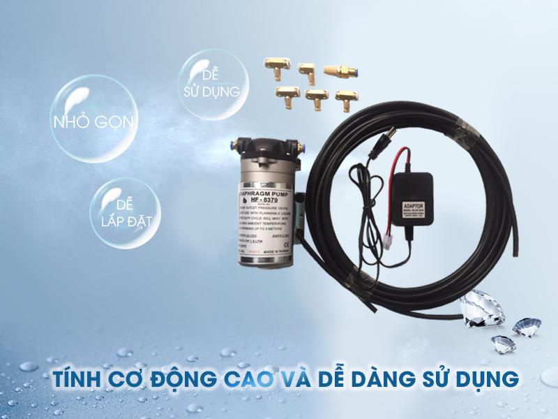 Bộ máy phun sương HF-8379 24V 5 béc dễ dàng lắp đặt và sử dụng