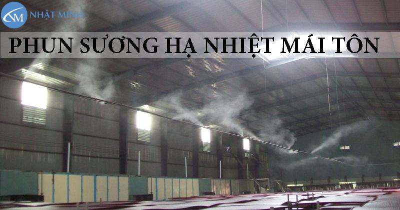 Giải pháp hệ thống phun sương làm mát mái tôn hiệu quả cho diện tích rộng