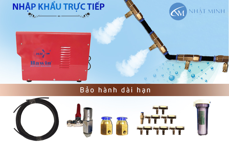 Bộ hệ thống phun sương 70 đầu béc phun nhập khẩu Đài Loan
