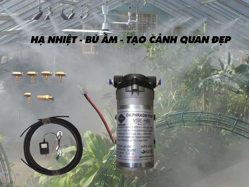 Hệ thống phun sương 5 béc VSE-H80 hạ nhiệt nhanh